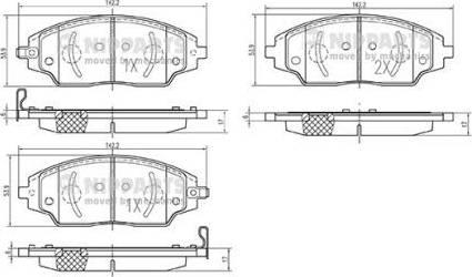 Nipparts N3600918 - Тормозные колодки, дисковые sparts.com.ua