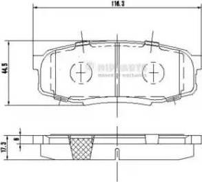 Nipparts N3612043 - Тормозные колодки, дисковые sparts.com.ua