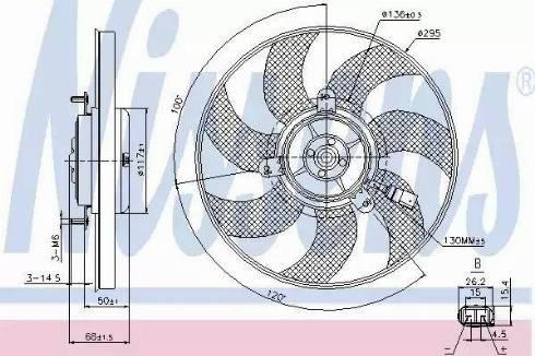 Nissens 85733 - Вентилятор, охлаждение двигателя sparts.com.ua