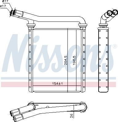 Nissens 707090 - Теплообменник, отопление салона sparts.com.ua