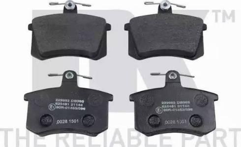 NK 229952 - Тормозные колодки, дисковые sparts.com.ua