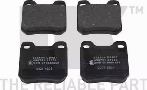 NK 223604 - Тормозные колодки, дисковые sparts.com.ua