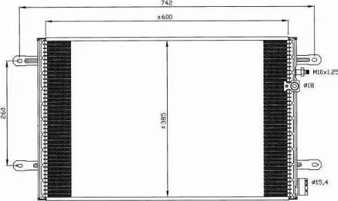 NRF 35605 - Конденсатор, кондиционер sparts.com.ua