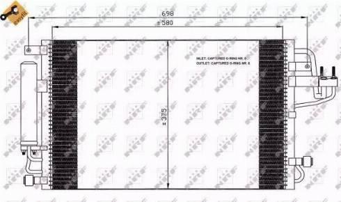 NRF 35600 - Конденсатор, кондиционер sparts.com.ua