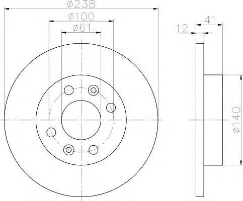 Pagid 52803 - Тормозной диск sparts.com.ua