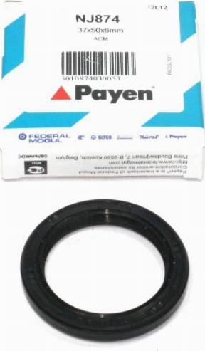 Payen NJ874 - Уплотняющее кольцо, коленчатый вал sparts.com.ua