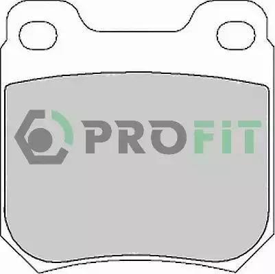Profit 5000-1117 - Тормозные колодки, дисковые sparts.com.ua