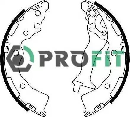 Profit 50014086 - Комплект тормозных башмаков, барабанные sparts.com.ua