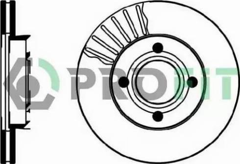 Profit 5010-0193 - Тормозной диск sparts.com.ua