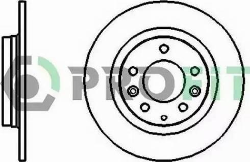 Profit 5010-1500 - Тормозной диск sparts.com.ua