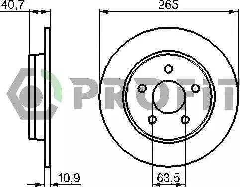 Profit 5010-1226 - Тормозной диск sparts.com.ua