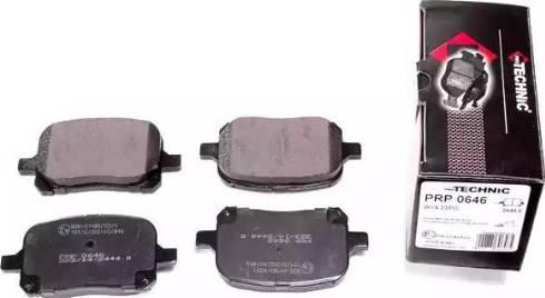 Protechnic PRP0646 - Тормозные колодки, дисковые sparts.com.ua