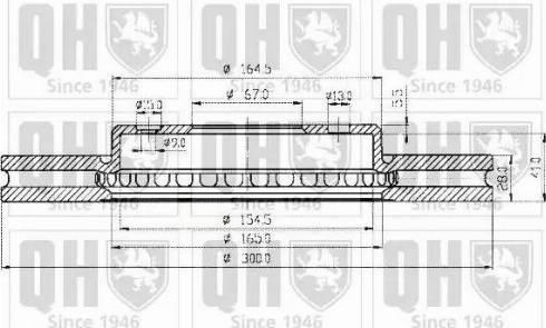 Quinton Hazell BDC4540 - Тормозной диск sparts.com.ua