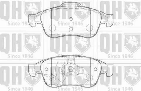 Quinton Hazell BP1655 - Тормозные колодки, дисковые sparts.com.ua