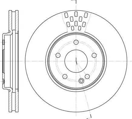 Remsa 6556.10 - Тормозной диск sparts.com.ua