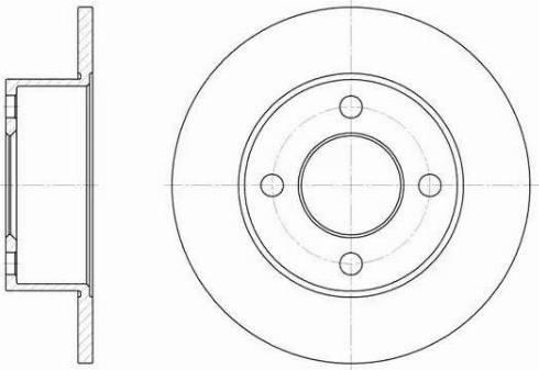 Remsa 6122.00 - Тормозной диск sparts.com.ua