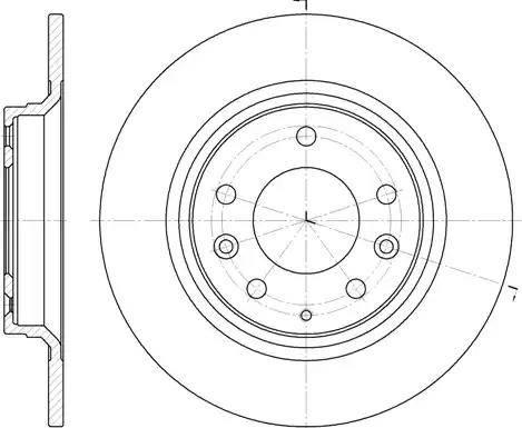 Remsa 6881.00 - Тормозной диск sparts.com.ua