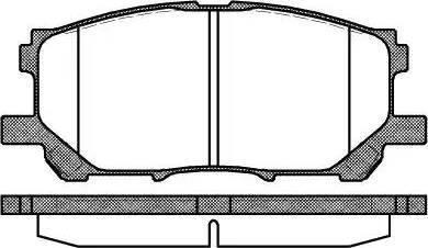 Roadhouse 21039.00 - Тормозные колодки, дисковые sparts.com.ua