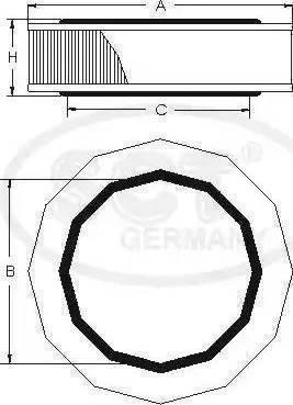 SCT Germany SB211 - Воздушный фильтр sparts.com.ua