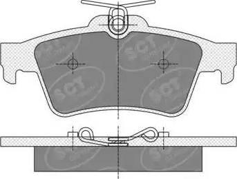 SCT Germany SP 357 PR - Тормозные колодки, дисковые sparts.com.ua