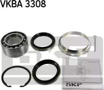 SKF VKBA 3308 - Комплект подшипника ступицы колеса sparts.com.ua