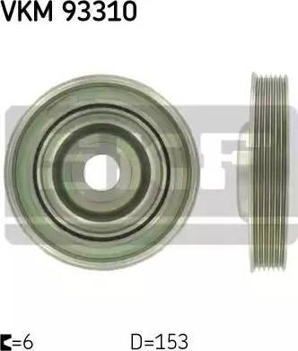 SKF VKM93310 - Ременный шкив, коленчатый вал sparts.com.ua