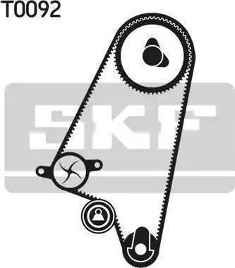 SKF VKMC 05121 - Водяной насос + комплект зубчатого ремня sparts.com.ua