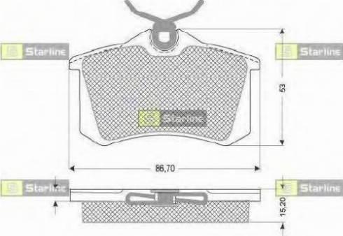 Starline BD S831P - Тормозные колодки, дисковые sparts.com.ua