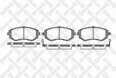 Stellox 962 002B-SX - Тормозные колодки, дисковые sparts.com.ua