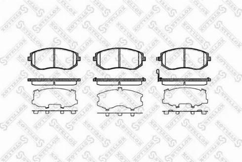 Stellox 962 011B-SX - Тормозные колодки, дисковые sparts.com.ua