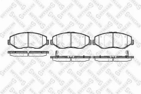 Stellox 910 000B-SX - Тормозные колодки, дисковые sparts.com.ua