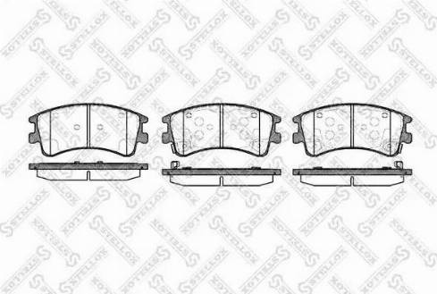 Stellox 981 002B-SX - Тормозные колодки, дисковые sparts.com.ua