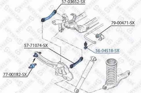 Stellox 56-04518-SX - Тяга / стойка, стабилизатор sparts.com.ua