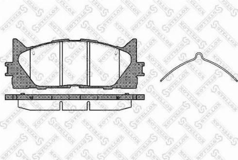 Stellox 002 007-SX - Тормозные колодки, дисковые sparts.com.ua