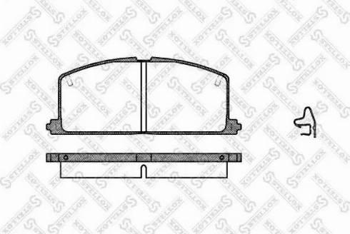 Stellox 178 004-SX - Тормозные колодки, дисковые sparts.com.ua