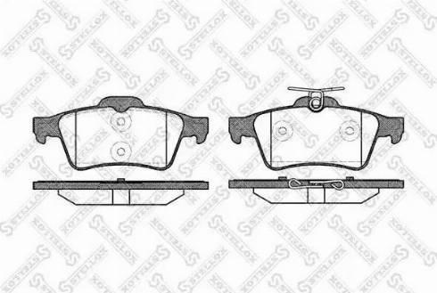 Stellox 853 020-SX - Тормозные колодки, дисковые sparts.com.ua
