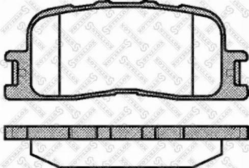 Stellox 865 000-SX - Тормозные колодки, дисковые sparts.com.ua