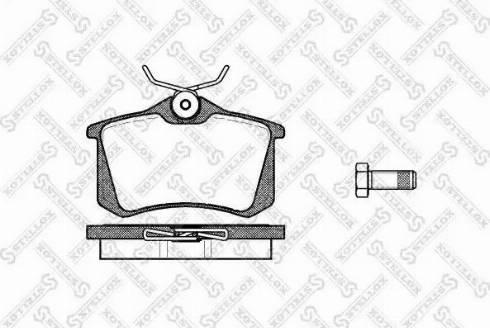 Stellox 274 010B-SX - Тормозные колодки, дисковые sparts.com.ua