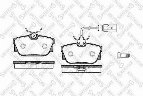 Stellox 778 000B-SX - Тормозные колодки, дисковые sparts.com.ua
