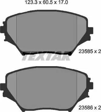 Textar 2358501 - Тормозные колодки, дисковые sparts.com.ua