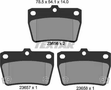 Textar 2365601 - Тормозные колодки, дисковые sparts.com.ua