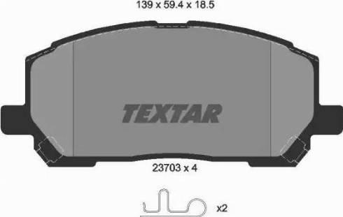 Textar 2370301 - Тормозные колодки, дисковые sparts.com.ua
