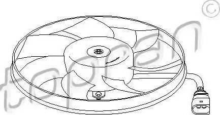 Topran 111285 - Вентилятор, охлаждение двигателя sparts.com.ua