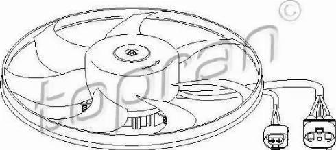Topran 111283 - Вентилятор, охлаждение двигателя sparts.com.ua