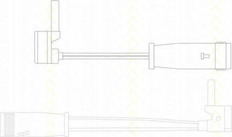 Triscan 8115 23017 - Сигнализатор, износ тормозных колодок sparts.com.ua