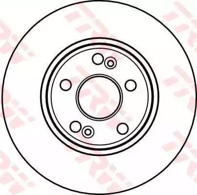 TRW DF4109 - Тормозной диск sparts.com.ua