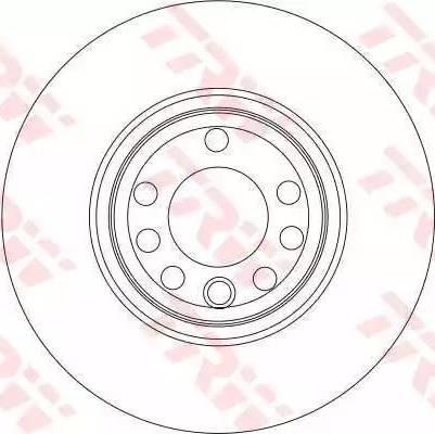 TRW DF4266 - Тормозной диск sparts.com.ua