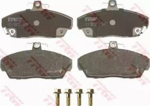 TRW GDB496 - Тормозные колодки, дисковые sparts.com.ua