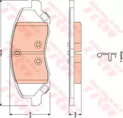 TRW GDB4141 - Тормозные колодки, дисковые sparts.com.ua
