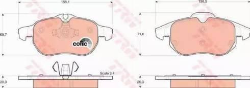 TRW GDB1492 - Тормозные колодки, дисковые sparts.com.ua